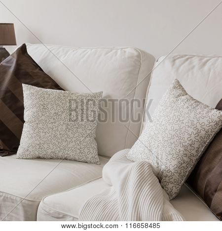 White Cosy Sofa