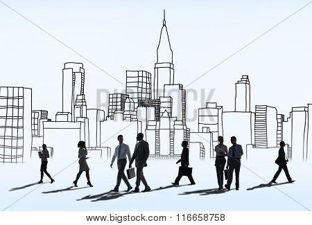 Metropolitan Urban Building Modern District Downtown Concept