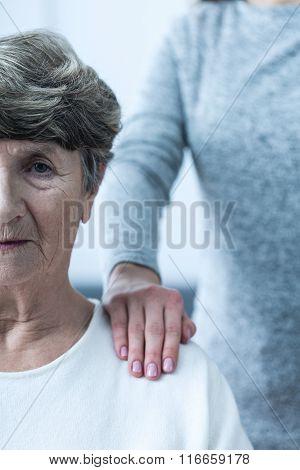 Ill Senior Woman