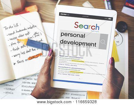 Personal Development Improvement Inspire Skills Concept