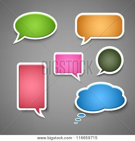 Collection Colored Dialog Bubbles Template
