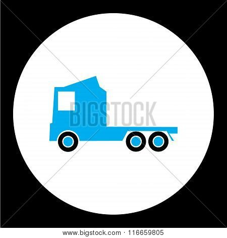 Simple Blue Truck Car Isolated Icon Eps10