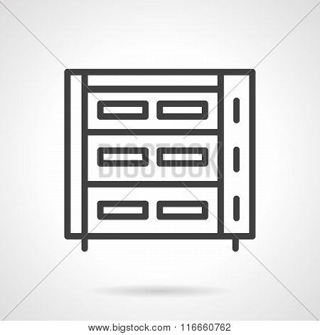 Abstract bakery appliance black line vector icon