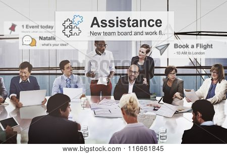 Business People Corporate Meeting Presentation Communication Diversity Concept
