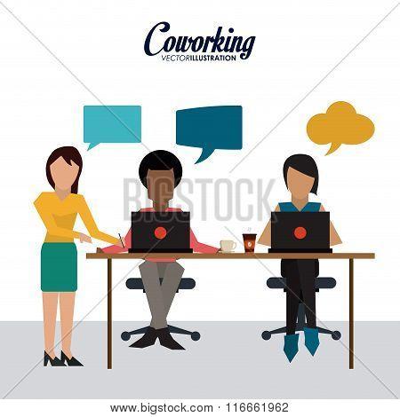 Coworking icon design