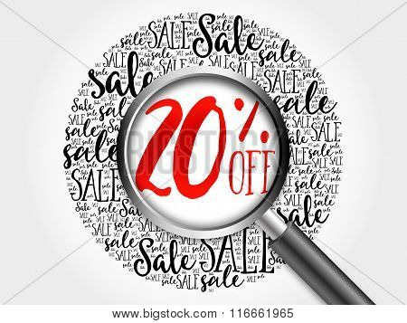 20% Off Sale Word Cloud