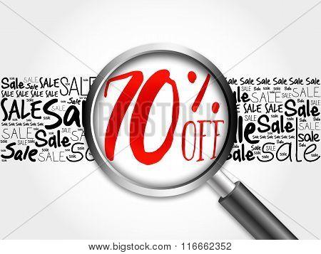 70% Off Sale Word Cloud