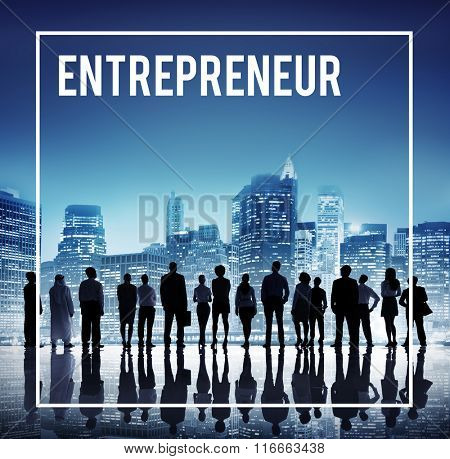 Global Business Team Entrepreneur Cityscape Concept