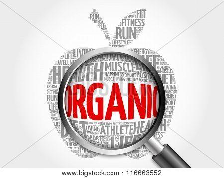 Organic Apple Word Cloud