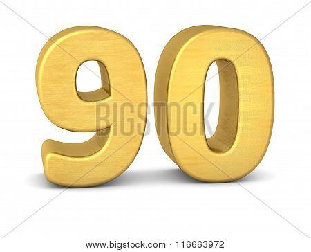 3D Number 90 Gold