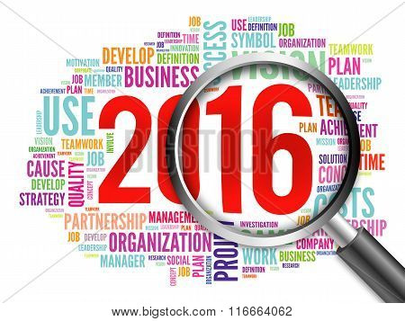 2016 Goals Plan Word Cloud