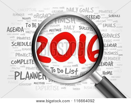 2016 To Do List Word Cloud