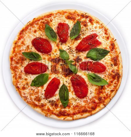 Pizza With Sun-dried Tomatoes And Basil