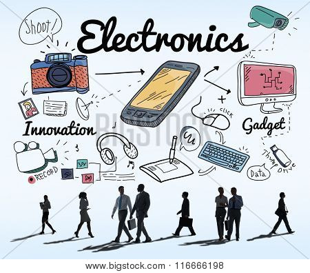Electronics Digital Devices Technology Concept