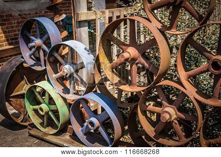 Collection of Colorful Mill Wheels