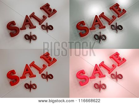 Dimensional Inscription Of Sale Set Of Pictures