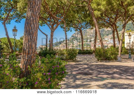 Street in Monaco Village in Monaco Monte Carlo, France.