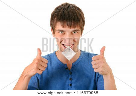 Young Man With Condom