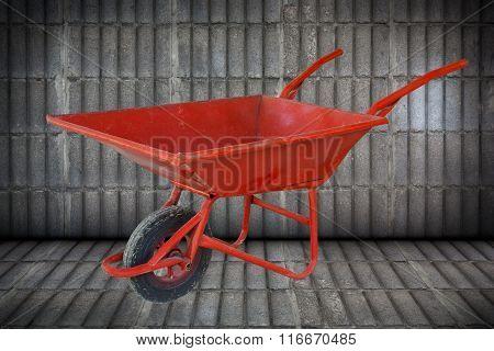 Cart Mortar Red.