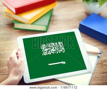 Saudi Arabia Flag Business Communication Connection Concept