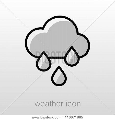 Rain Cloud Rainfall Icon. Meteorology. Weather
