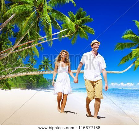 Couple Honeymoon Tropical Beach Romantic Concept