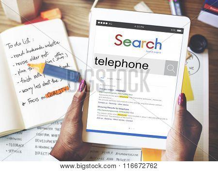 Telephone Communication Calling Telecommunication Concept