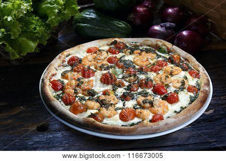 Pizza shrimp