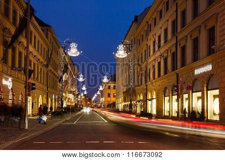 Brienner Street In Munich