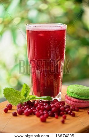 fruit non-alcoholic drink with cranberries