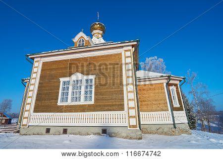 Beautiful Wooden Church In Volgoverkhovye