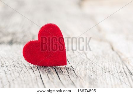 Valentines Day Background With Heart. Selective Focus