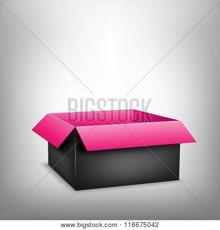 3D black pink box