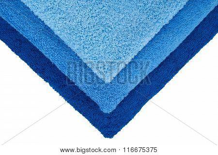 Three Blue Towels