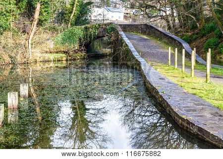 Neath Canal With Skew Bridge, Neath Canal, Aberdulais