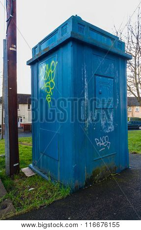 Police Public Call Box, Nicknamed The Newport Tardis.