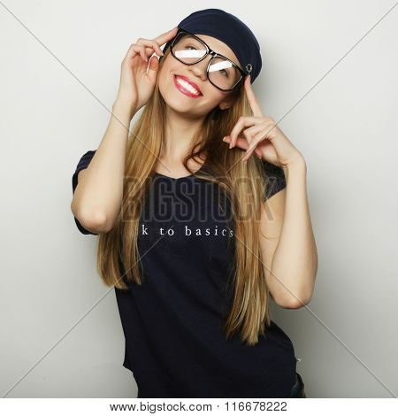 Young happy blond woman