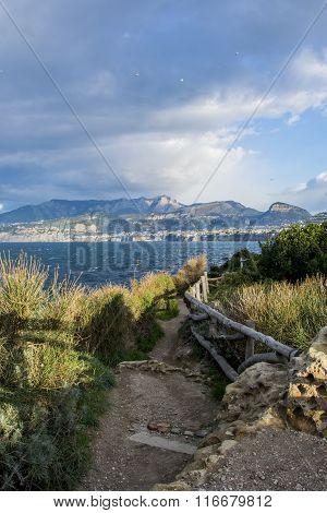 Sorrento (Italy) Nature trail to Reggina Giovanna bay