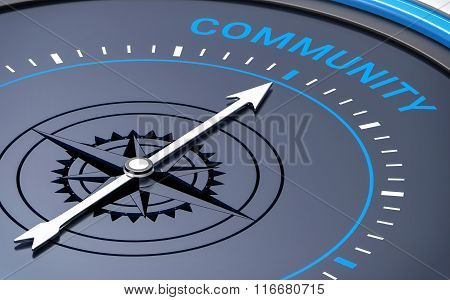3D Compass. Community Word