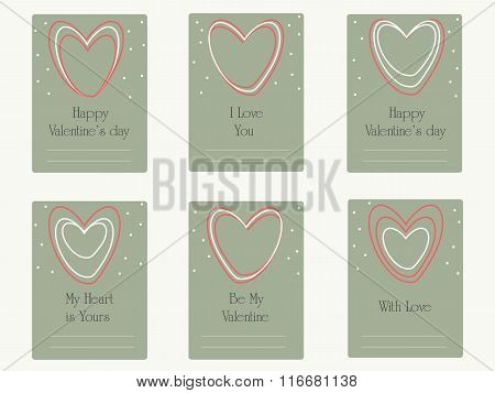Valentine's day greetings  card. Wedding card.