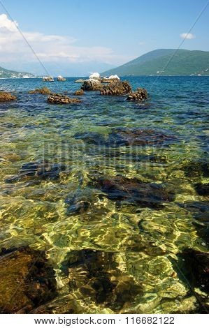The sea in Montenegro