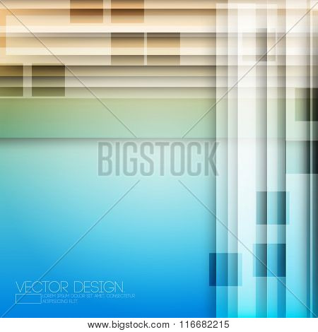 elegant vibrant transparent shapes rectangle on colored background