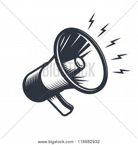 Illustrationn of megaphone