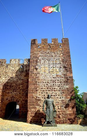 Silves historical castle in the Algarve, Portugal