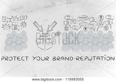 Product Loved By The Majority Of People, With Text Protect Your Brand Reputation
