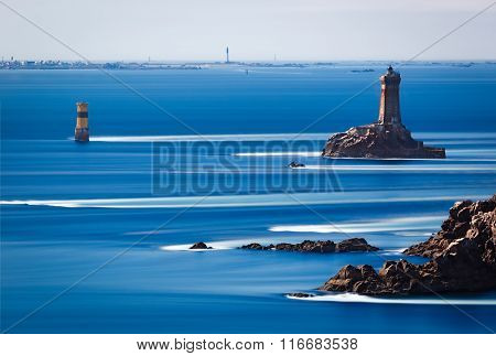 Phare De La Vieille At Point Du Raz, Brittany, France
