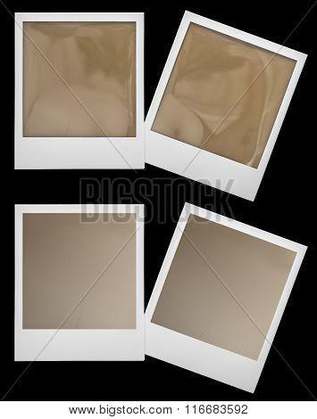 Retro Polaroid Photo Frames Isolaten On Black