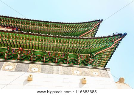 Gyeongbokgung Palace, The Old Royal Residence, In Seoul, South Korea