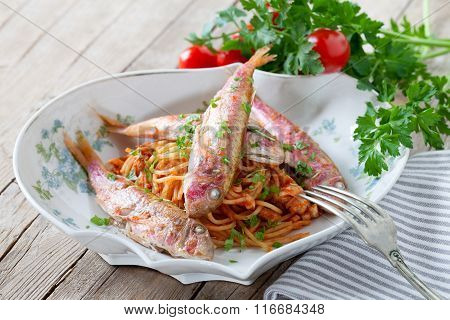 Spaghetti With Red Mullet