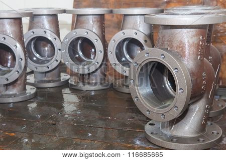 Valve bodies during water cleanig